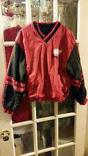 Detroit Red Wings Reversible Windbreaker Fleece Pullover Jacket Youth L 14-16