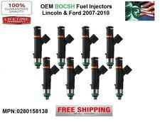 Set/8 OEM Bosch Fuel Injectors for 2007-2008 Lincoln Mark LT 5.4L V8 0280158138