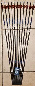 12 Carbon Express Maxima Blue RZ 350 arrows w/Blazer vanes -will cut