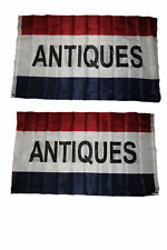 3x5 Advertising Antiques 2ply Double Sided Polyester Flag 3'x5'