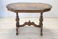 Tavolo da salotto tavolo antico tavolo in radica di noce sec XIX DA RESTAURARE