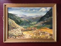 Vintage Oil Landscape Painting - Cumbria - Lake District - English School