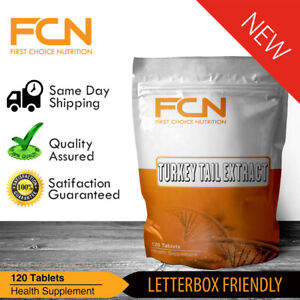 Turkey Tail Mushroom - 240 Tablets - Organic Extract - 30% Polysaccharide Powder