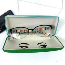 KATE SPADE Eyeglasses SHAYLA W34 Brown Stripe Women 51x17x135 Tortoise Half Rim