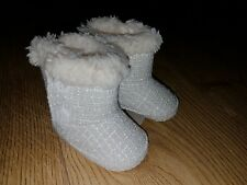 Baby girl fur pram shoes size 0-3 mths NEW