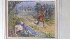 GEORGE CLARK STANTON 1832-1894 VICTORIAN PAINTING MYTH ROMANCE KNIGHT & MAIDEN