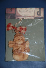 Rocky Mountain Wax Works -- Snowman Cinnamon Scented Beeswax Christmas Ornament