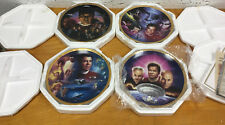 Set of 4 Hamilton Collectors Plates, Star Trek The Movies & Generations, Spock