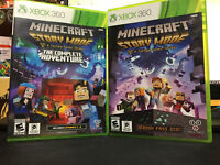 XBOX 360  TELLTALE MINECRAFT STORY MODE AND MINECRAFT STORY MODE THE COMPLETE AD