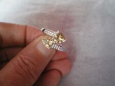 Champagne Quartz ring, size P/Q, 1.46 carats, in 3.32 grams of 925 Sterling Silv