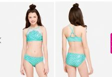 cc3e209b9c Nwt Justice Mesh Mermaid Scale High Neck 2 Piece Bikini Swimsuit Size 16