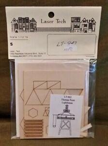 Dollhouse Miniature LT-842 Laser Tech Thomas Point Lighthouse Kit 1:144 Scale