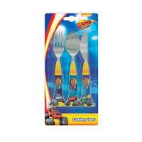 Blaze Monster Truck 3 - Piece Cutlery Set - Knife Fork Spoon