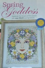 JOAN ELLIOTT STUNNING SPRING FLOWER GODDESS CROSS STITCH CHART