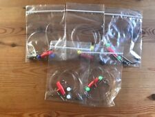 5 x quality 4/0 running ledger rigs with oshaughnessy hooks bass,cod etc
