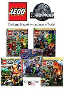 LEGO Jurassic World Magazine Ausgabe inkl. Zubehör - Wählen sie ihre Ausgabe!