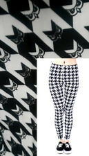 Super Soft Matte Fabric Black and White Owl Leggings Trousers One size UK8-12