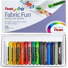 Pentel Fabric Fun Pasteles ceras marcador Camiseta Textil-Juego de 15 Colores