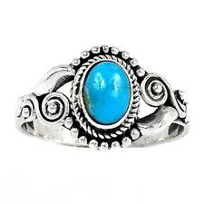 BLUE ARIZONA TURQUOISE .925 STERLING SILVER SZ 8 RING  11XTG8.5RTQ-4075