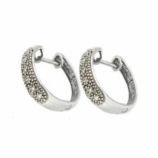 Huggie Excellent Cut Fine Diamond Earrings