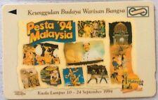 Malaysia Used Phone Cards - Pesta '94 Malaysia