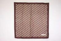 Christian Dior 75cm Large Scarf 100% Silk Trotter Logo Bandana Brown 4774k