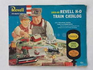 1959-60 vintage REVELL H-O ELECTRIC TRAIN CALTALOG model railroad w PRICES hobby