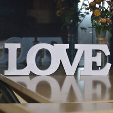 White Wooden Free Standing LOVE Letters Sign Wedding Home Decoration Fine