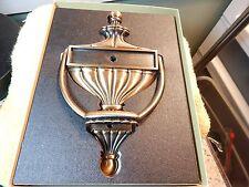 Patent #253749 Bronze Tone Metal Door Knocker-New w/Box & Hardware