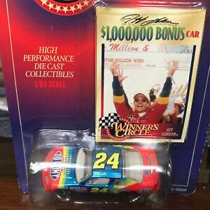 1997 Jeff Gordon #24 $1,000,000 Bonus Car Winners Circle 1/64 Scale Diecast.