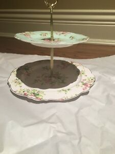 BRAND NEW SHABBY CHIC 2 TIER STAND SERVING DISHES