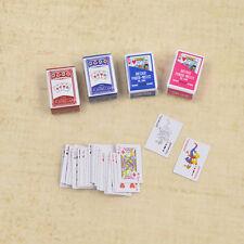 Mini Carte de Poker Maison de Poupées Miniatures Enfants Jouets Jeux Barbie Déco