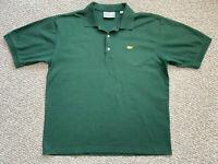 Augusta National Golf Shop POLO SHIRT Men's L Dk Green Short Sleeve Cotton