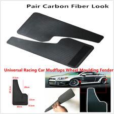 Universal SUV Car Mudflaps Wheel Moulding Fender Mudguard Pair Carbon Fiber look