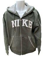 NEW NIKE Sportswear NSW Cotton Hoodie Jacket Full Zip Olive Green L