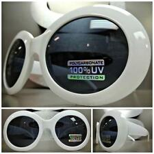 EXAGGERATED OVERSIZE VINTAGE RETRO Style SUN GLASSES Round White Fashion Frame