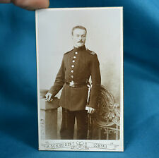 C19th CDV Foto German Army Deutsches Heer Soldier 102nd Saxon Infantry Regiment