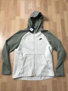 Men's Nike Tech Fleece Hoodie Bone/Jade Size Medium NWT