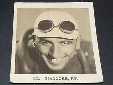 CYCLISME GLOBO GEANTS ROUTE TOUR 1936 N°52 LUIGI GIACCOBE ITALIE ITALIA CICLISMO