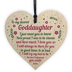 Handmade Goddaughter Gift Wooden Heart Goddaughter Birthday Gift From Godparent