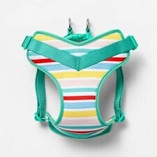 NEW Adjustable Padded Dog Harness sz L Variegated Stripe, step in, reversible