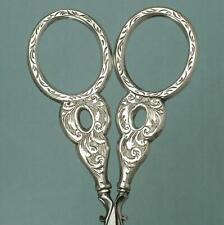 Antique English Sterling Silver Embroidery Scissors * Circa 1840
