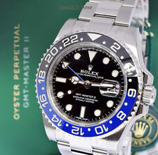 Rolex BRAND NEW GMT-Master II Batman Mens Ceramic Steel Box/Papers 116710BLNR