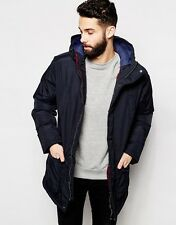 """Farah Men's Parka with Hood in Black Size XL Chest 42-44"""" rrp £150"""