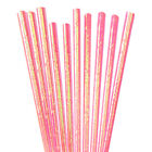 12 PC Cake Pop Party Straws - Pink Iridescent | Bakell®