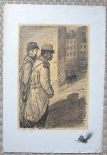 Lithographie Originale de T. A STEINLEN - Guerre 14/18 - Signée et numérotée