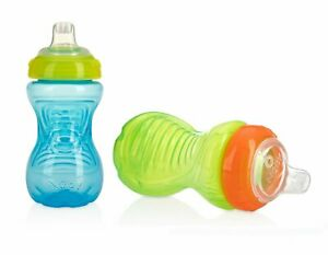 Nuby 2-Pack No-Spill Easy Grip Cups, 10 Ounce
