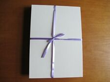 A5 Pre Scored, Card Blanks, 25 each of Cream and Pearlescent Grey/Black
