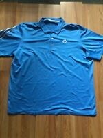 Adidas Climacool Mens Sky Aqua Blue XL Extra Large Short Sleeve Golf Polo Shirt