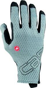 NEW Castelli Unlimited Long Finger Gloves, Vortex Grey, Large